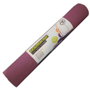 Evolution jóga matrac (4mm, padlizsánszínű/szürke)