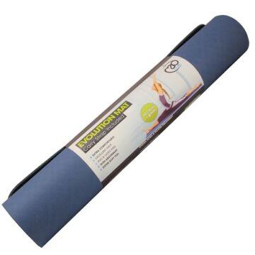 Evolution jóga matrac (4mm, kék/szürke)