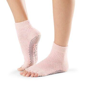 ToeSox Half Toe Ankle Grip Socks