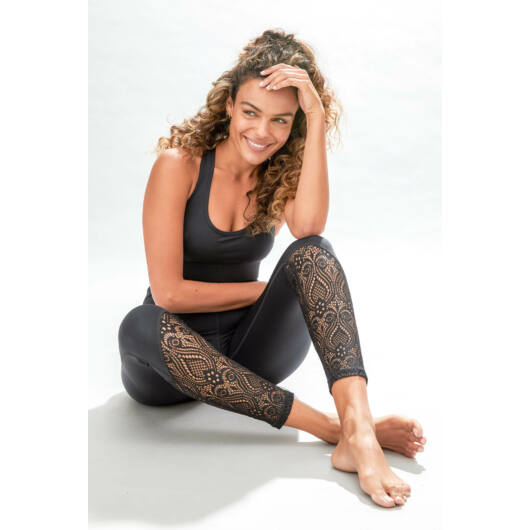 Dream Catcher Lace leggings - Black