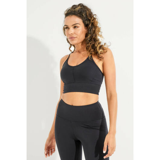Wonder Luxe Ellis Crop Sports melltartó - Black