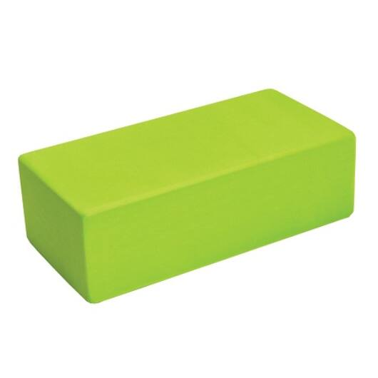 Nagy sűrűségű jóga tégla (22cm x 11cm x 7cm, lime zöld)