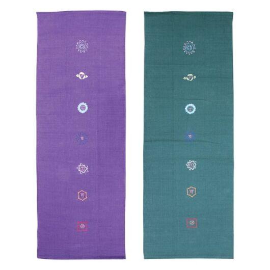 Pamut jóga szőnyeg (Chakra mintás)