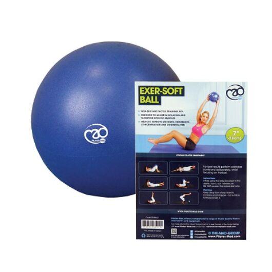 Pilates Soft Ball (18cm, kék)