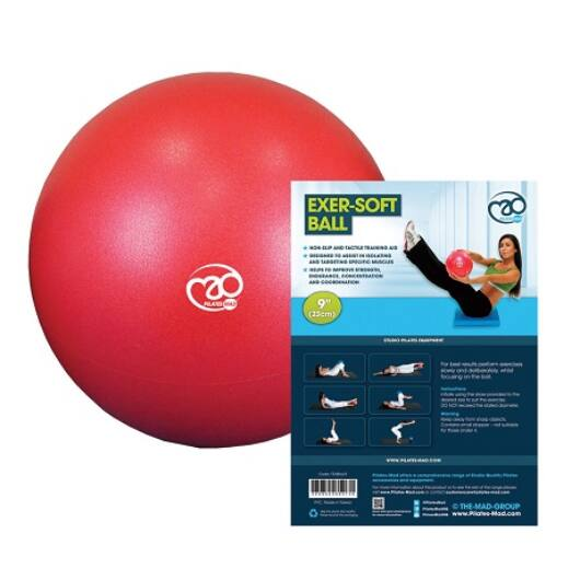 Pilates Soft Ball (23cm, piros)
