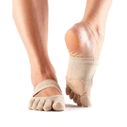 ToeSox Full Toe Releve Dance Socks In Nude