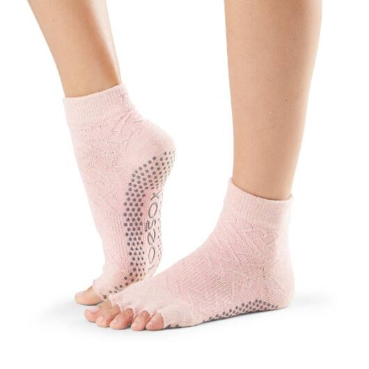 ToeSox Half Toe Ankle Grip Socks In Chill