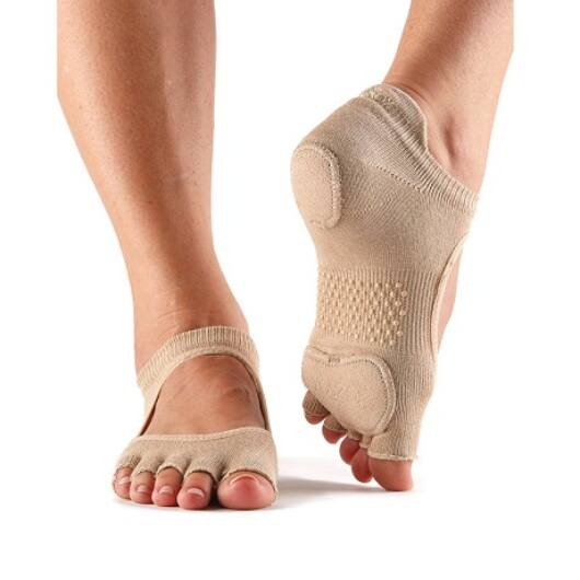 ToeSox Half Toe Prima Bellarina Dance Sock In Nude
